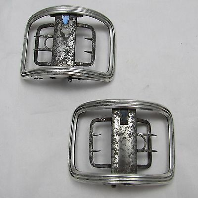 Good Pair Of Antique William Iv Silver Buckles London 1832 Rawlings & Summers