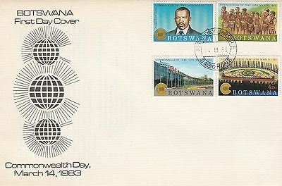 1983 Botswana Commonwealth Day Unaddressed First Day Cover CDS PMK Ref: MT201