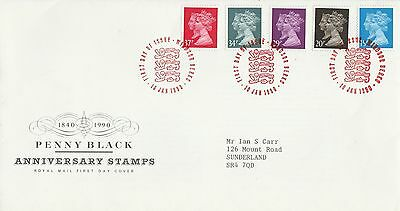 1990 GB Penny Black Anniversary Stamps First Day Cover Windsor PMK Ref: MT189