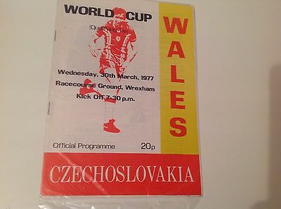 Wales V Czechoslovakia World Cup Match 30Th March 1977