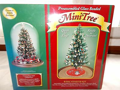 Westrim Crafts Mini Christmas Tree Kit With Ornaments Glass Beaded
