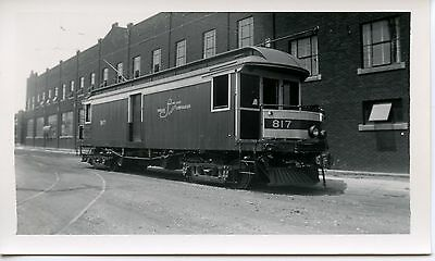 6E842 RP 1930/40s INDIANA SERVICE  TRACTION LIGHT CORP RAILWAY CAR #817