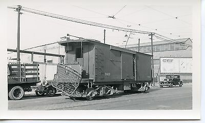 6E828 RP 1930/40s SOUTH BEND RAILWAY CO LINE CAR ? FREIGHT MOTOR ? #9410 INDIANA