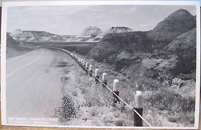 Montana RPPC BADLANDS EAST OF GLENDIVE Hwy 10 Route KF Roahen Photo Postcard