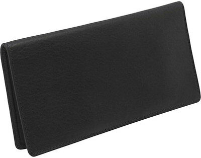 Osgoode Marley Cashmere Leather Checkbook Cover - Brandy