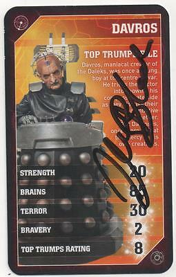 "Dr Who Top Trumps Auto Card Julian Bleach ""Davros"""