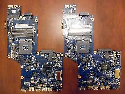 A pair of Toshiba laptop computer c850 c855 faulty motherboards - spares repairs