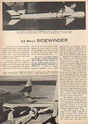 1957 US Navy Sidewinder Missile F9F-8 Cougar Article