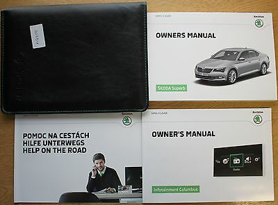 Genuine Skoda Superb Iii Handbook Owners Manual Wallet Navi 2015-2016 Pack 10754