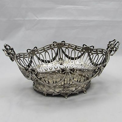 Lovely Antique Georgian Style Dutch Silver Sweetmeat Basket Import Marks 1907
