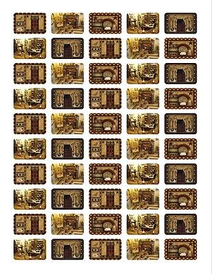 50 Rectangular Stickers/Seals Primitive Country Buy 3 get 1 free (pc1)