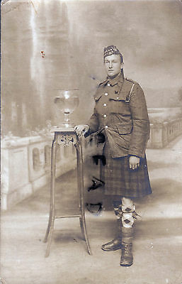 WW1 Soldier Private Seaforth Highlanders in France