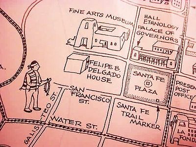 1964__NEW_MEXICO__SANTA_FE__ CHAMBER_of_COMMERCE TOWN__&__REGION PICTORIAL__MAPS
