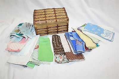 Lot of 22 Vintage Women's Floral Colorful Embroidered Handkerchiefs