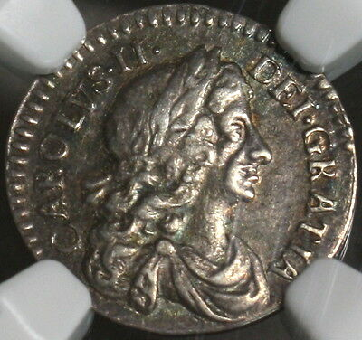 1676 NGC XF 45 CHARLES II Silver 2 Pence GREAT BRITAIN Coin  POP 1/3 (16111710C)