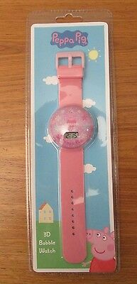 BNWB Peppa Pig 3D Children's Pink Bubble Watch Age 6+
