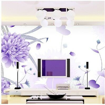 * Modern Simple Style Flower Pattern TV Background Bedroom Living Room WallPaper