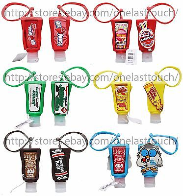AIRHEADS 1oz CANDY SCENTED Anti-Bacterial HAND SANITIZER+HOLDER New *YOU CHOOSE*