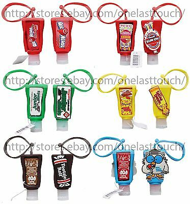 AIRHEADS 1oz CANDY SCENTED Anti-Bacterial HAND SANITIZER+HOLDER *YOU CHOOSE*