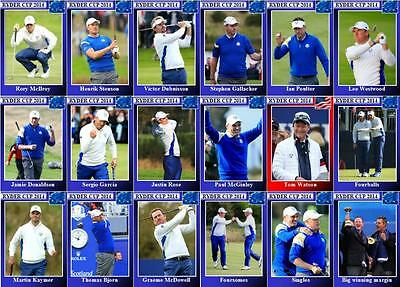 2014 Ryder Cup Golf Trading Cards - European Squad Gleneagles