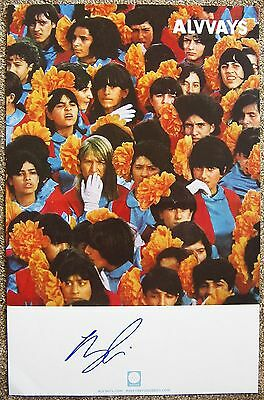 Signed ALVVAYS MOLLY RANKIN Gig POSTER In-Person w/proof Autograph Concert
