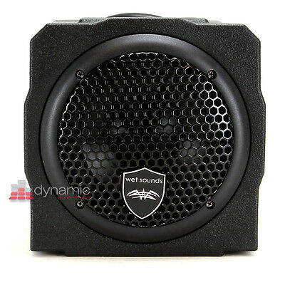 """Wet Sounds STEALTH AS-6 Stealth Series 6.5"""" Sealed Sub Enclosure w/ Built-In Amp"""