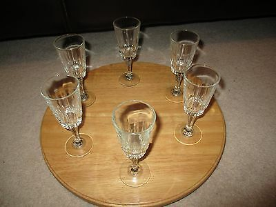 Crystal d'arque fluted champagne glasses