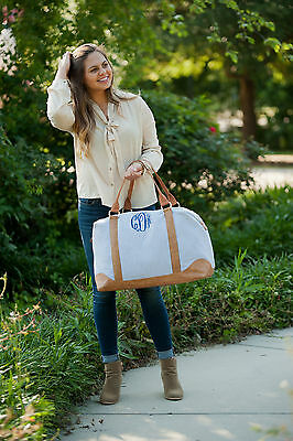 Personalized Weekender Duffle Bag Embroidered Monogrammed Large Travel Tote