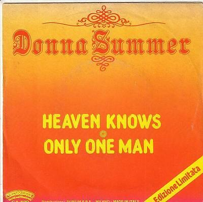 Donna Summer -Heaven Knows- Italy 45 Casablanca Cosmic Disco Giorgio Moroder
