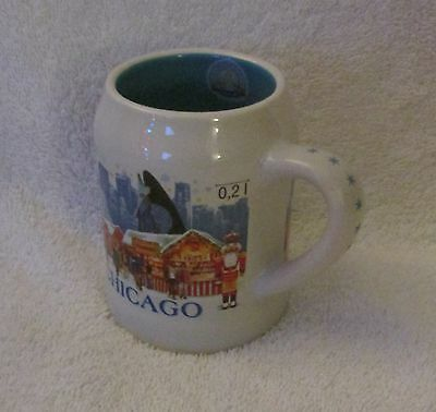 2016 Chicago IL CHRISTKINDLMARKET Ceramic Stein Mug Collectible!