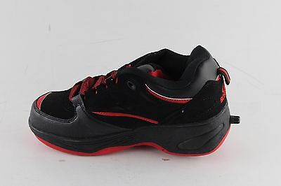 New With Box Boy's BOSTON Black And Red Canvas Lace Up Heely Sneakers Size 4.5
