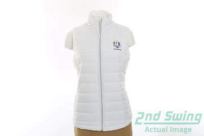 New Womens Cutter & Buck 2016 Ryder Cup Post Alley Vest X-Large White MSRP $80