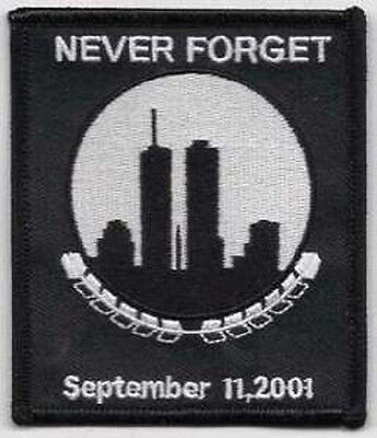Lot Of 2 - Never Forget 9-11 Twin Towers Embroidered Patch
