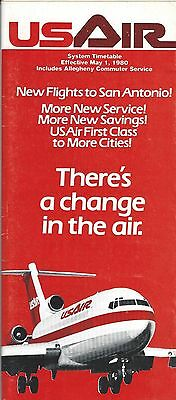 Airline Timetable - US Air - 01/05/80 - B727 Cover