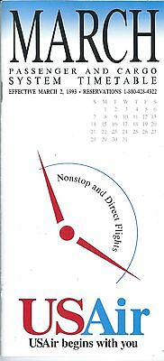 Airline Timetable - US Air - 02/03/93