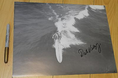 Dale Velzy AUTOGRAPHED - Jacobs Vintage 1950 Photo 10x13in. Surfing Film Poster