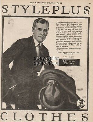 1923 STYLEPLUS CLOTHES Vintage Men's Fashions-Sonneborn Baltimore MD Ad