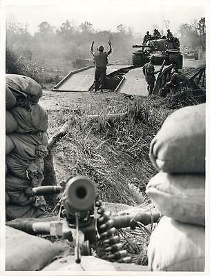 1967 Ace of Spades on Tank - 173rd Airborne Operation in Vietnam Press Photo