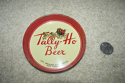 TALLY-HO beer 1930's TIP TRAY City Brewery NEW YORK CITY