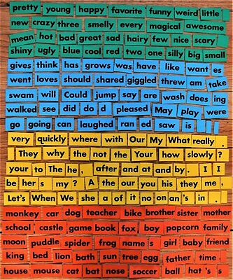Lakeshore Learning magnetic WORDS home school classroom magnets read english