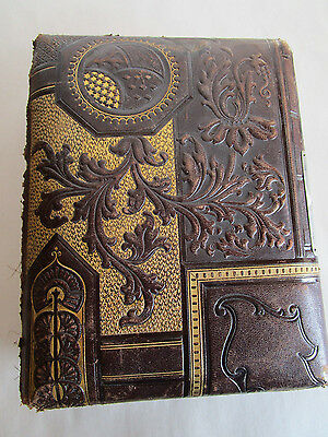 Antique Photo Album With Lots Of Black & White Photos Late 1800's