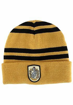 NEW Harry Potter Hogwarts Hufflepuff Beanie Official Licensed Merchandise Elope
