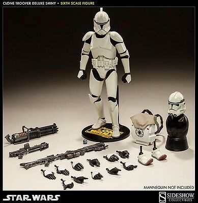 Sideshow Star Wars Clone Trooper Shiny 1/6 Scale Figure The Clone Wars New