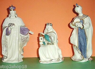 Lenox First Blessing Nativity The Three Kings Figurines New In Box