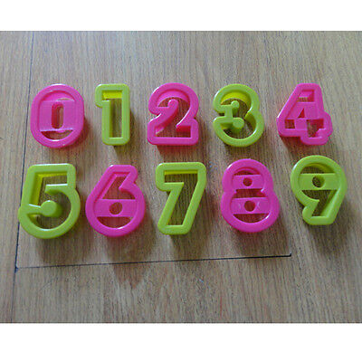 Number 0-9 alphabet plastic baking biscuit cookie cutter mold set Cute model