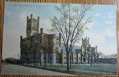 ~1910 State Armory, Providence, Rhode Island Blanchard & Young Antique Postcard