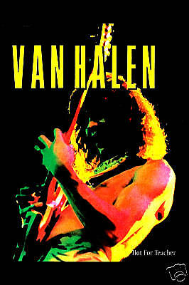 Heavy Metal: Eddie Van Halen * Hot For Teacher * Promotional Poster 1984