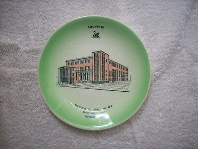 Wembley Ware Souvenir Plate Churches Of Christ In W.a. Christian Centre 1960