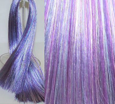 FROSTED VIOLET Saran Doll Hair for Custom/OOAK Re-rooting or Wig Making