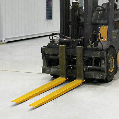 "96x5.5"" Forklift Pallet Fork Extensions Pair Retaining Lift Truck 2 Thickness US"